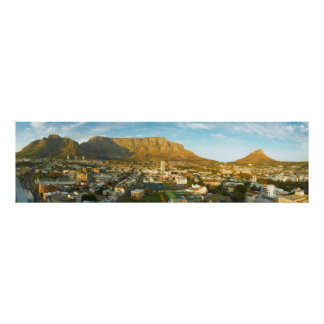 Cape Town Cityscape With Table Mountain Poster