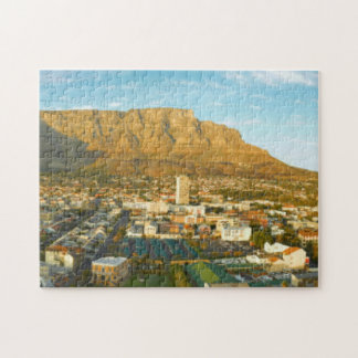 Cape Town Cityscape With Table Mountain Puzzle