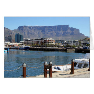 Cape Town Harbour and Table Mountain Greeting Card