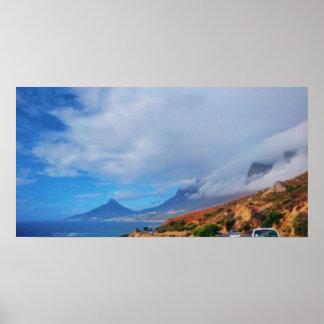 Cape Town Lion's Head 12 Apostles View Poster