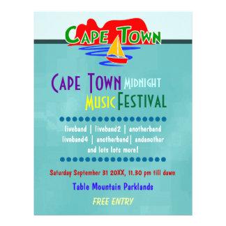 Cape Town Music Festival Custom Flyer Flyers