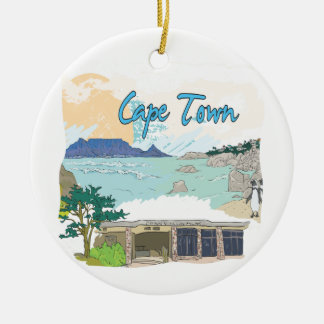 Cape Town Round Ceramic Decoration