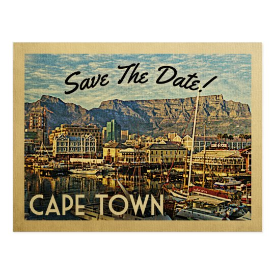 Cape Town Save The Date South Africa Postcard