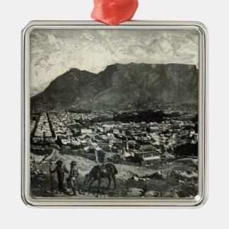 Cape Town Silver-Colored Square Decoration
