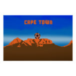 Cape Town Soccer Ball Poster South Africa