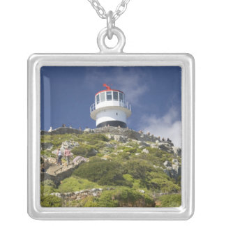 Cape Town, South Africa. A lighthouse on the Silver Plated Necklace