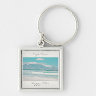 Cape Town Table Mountain Happy Vibes Keychain