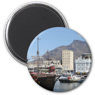 Cape Town V&A Waterfront, South Africa 6 Cm Round Magnet