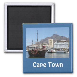 Cape Town V&A Waterfront, South Africa Square Magnet