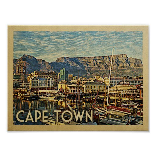 Cape Town Vintage Travel Poster