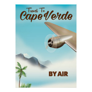 Cape Verde Air travel poster