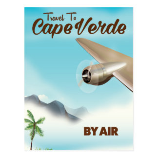 Cape Verde Air travel poster Postcard