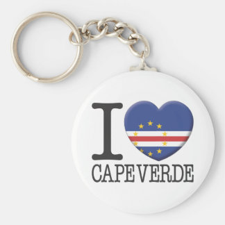 Cape Verde Basic Round Button Key Ring