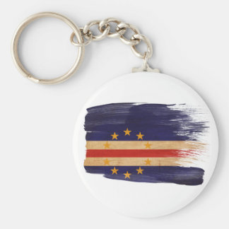 Cape Verde Flag Basic Round Button Key Ring