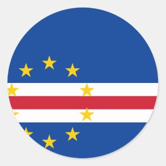 Cape Verde Flag CV Classic Round Sticker