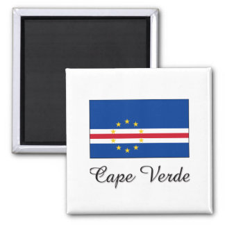 Cape Verde Flag Design Square Magnet