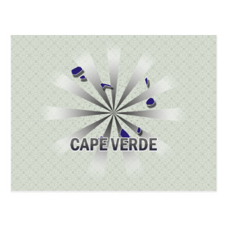 Cape Verde Flag Map 2.0 Postcard