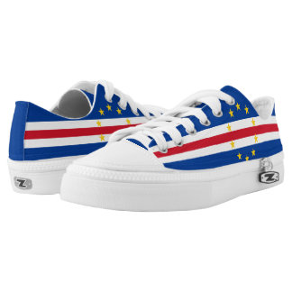 Cape Verde Flag Printed Shoes