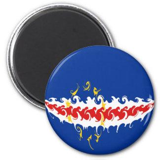 Cape Verde Gnarly Flag 6 Cm Round Magnet