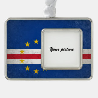 Cape Verde Silver Plated Framed Ornament