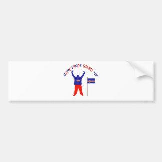 Cape Verde Stand up Bumper Sticker