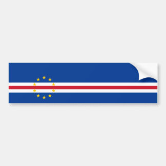 Cape Verde/Verdian/Verdean Flag Bumper Sticker