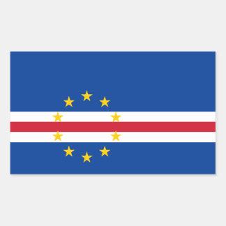 Cape Verde/Verdian/Verdean Flag Rectangular Sticker