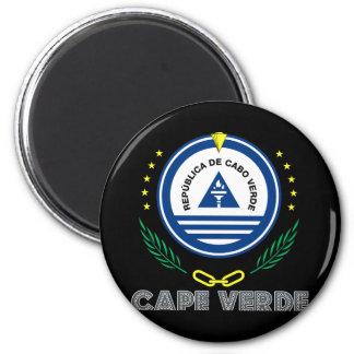 Cape Verdean Emblem 6 Cm Round Magnet