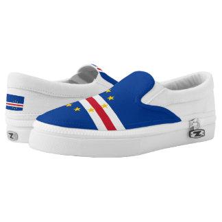 Cape Verdean flag Printed Shoes