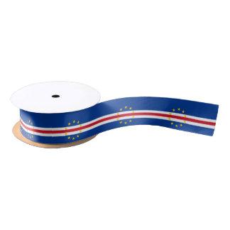 Cape Verdean flag ribbon Satin Ribbon