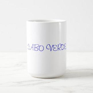 Cape Verdean Mug.  Cabo Verde Print Basic White Mug