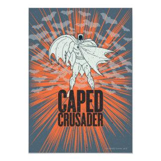 Caped Crusader Graphic 13 Cm X 18 Cm Invitation Card