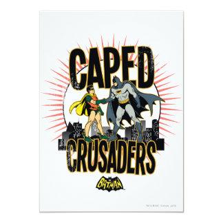 Caped Crusaders Graphic 13 Cm X 18 Cm Invitation Card