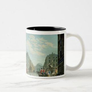 Capel Street with the Royal Exchange, Dublin, 1800 Two-Tone Coffee Mug