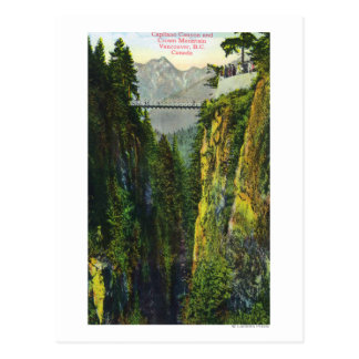 Capilano Canyon View of Crown Mountain Postcard