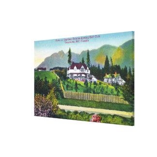 Capilano Estates Showing the Golf Club Canvas Print