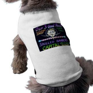 Capital Barber Shop Our 3 Good Points Vintage Doggie Tee Shirt