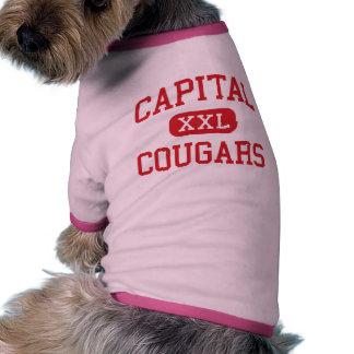 Capital - Cougars - High - Olympia Washington Pet Tee Shirt