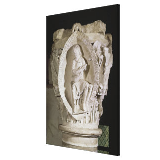 Capital depicting the First Key of Plainsong Canvas Print