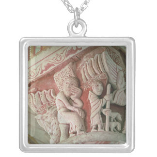 Capital from the chancel from 'Babilonia Silver Plated Necklace