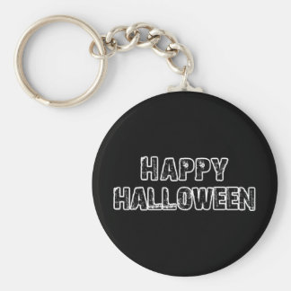 Capital Grunge Happy Halloween Basic Round Button Key Ring