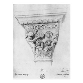 Capital illustrating the vice of despair postcard