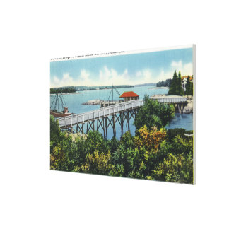Capital Island New Foot Bridge View Canvas Print