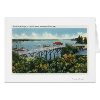 Capital Island New Foot Bridge View Card