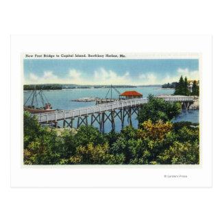 Capital Island New Foot Bridge View Postcard