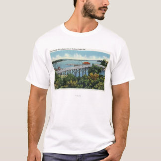 Capital Island New Foot Bridge View T-Shirt