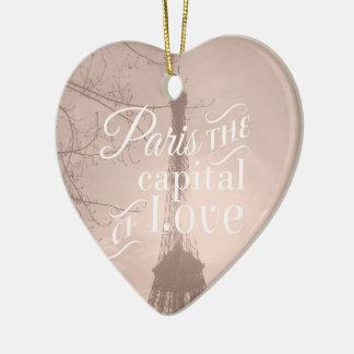 Capital of love christmas ornament