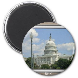 Capital one 6 cm round magnet