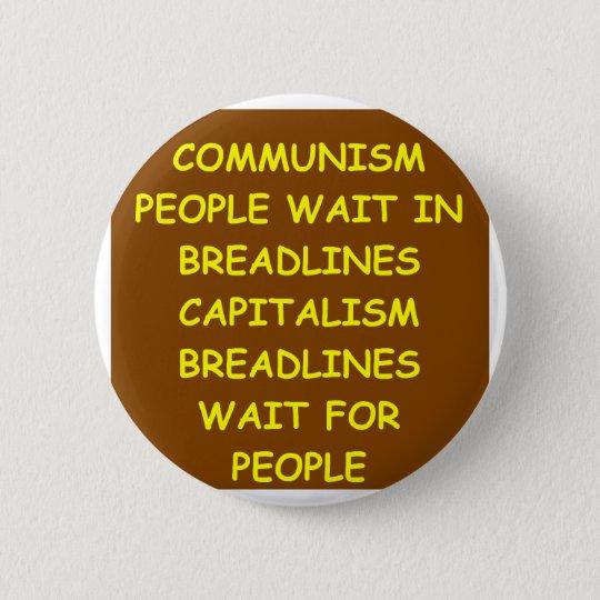 capitalism 6 cm round badge