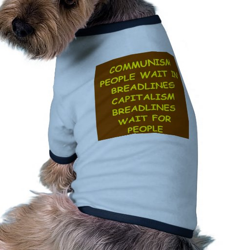 capitalism doggie t-shirt